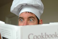 cook podekscytowana Obrazy Royalty Free