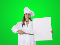 Cook with poster Stock Photos