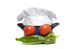 Cook pot. Various vegetables, as ingredients for a good meal Royalty Free Stock Photography