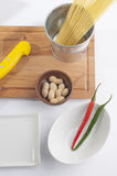 Cook preparation set Royalty Free Stock Images