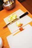 Cook is preparing food Stock Photo