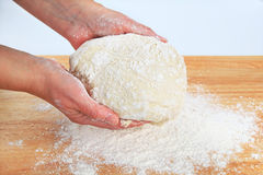 Cook preparing yeast dough Royalty Free Stock Photo