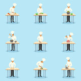 Cook Profession Icons Set Stock Photo