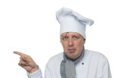 Cook przedstawień ręki znaka kierunek Obraz Stock