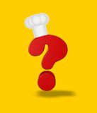 Cook question mark Stock Photo