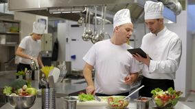 Cook quitting job to chef with tablet
