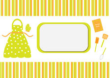 Cook / Recipe Book Card Cover Royalty Free Stock Photos