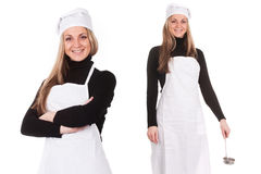 Cook with a scoop Royalty Free Stock Images