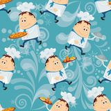 Cook, seamless pattern Royalty Free Stock Photos