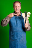 Cook showing his tools Stock Photos