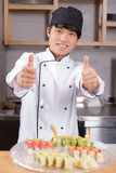 Cook shows thumbs up Stock Photo