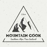 Cook in Southern Alps, New Zealand outdoor. Stock Images