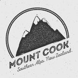 Cook in Southern Alps, New Zealand outdoor. Royalty Free Stock Image