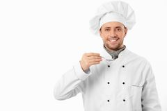 Cook with spoon Royalty Free Stock Photo