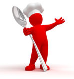 Cook with spoon Stock Images
