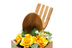 Cook spoon with flower Stock Photography