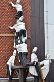 Cook statue was climbing the chimney at  Chocolate factory, Shiroi Koibito Park Stock Photography