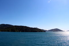 Cook straight ferry crossing New Zealand  Nelson area Royalty Free Stock Photography