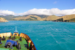 Cook Strait seen from the ferry (New Zealand) Royalty Free Stock Photography