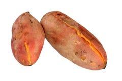 Cooked sweet potatoes stock photos