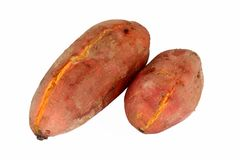 Cooked sweet potatoes stock photo