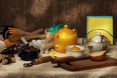 Cook-table. Still life, much things on a cook-table Stock Image
