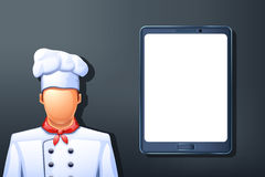 Cook tablet Stock Photography