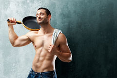 Cook Teasing Royalty Free Stock Photo