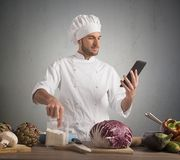 Cook with technology Stock Photography