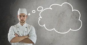 Cook with Thought Bubble Stock Photography