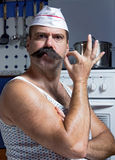 Cook in undershirt Royalty Free Stock Photography