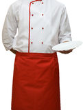 Cook uniform. Man isolated on white Stock Photos