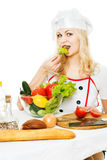 Cook with vegetables Stock Image