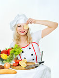 Cook with vegetables Stock Photos