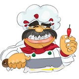 Cook. Who likes to  spicy food Stock Images