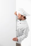Cook With A Banner Royalty Free Stock Photography