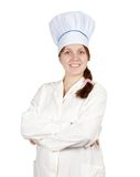Cook woman in toque Stock Photo