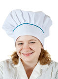 Cook woman in toque Royalty Free Stock Image