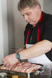 Cook at work Stock Image