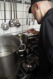Cook at work Royalty Free Stock Photo