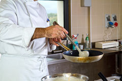 Cook at work Royalty Free Stock Image