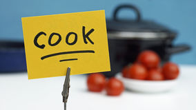 Cook written Royalty Free Stock Images