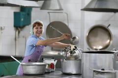 Cook z kopyścią Zdjęcia Royalty Free