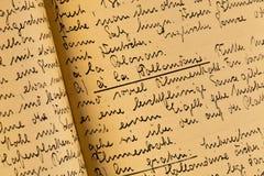cookbook παλαιός Στοκ φωτογραφία με δικαίωμα ελεύθερης χρήσης
