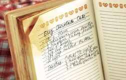 cookbook συνταγή στοκ εικόνες