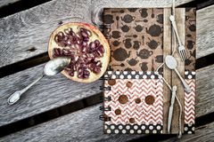 Cookbook. Scrapbooking - what to do for a dinner Royalty Free Stock Photo