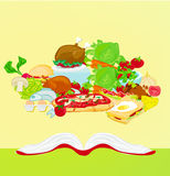 Cookbook. Abstract background  illustration Royalty Free Stock Images