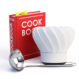 Cookbook, Chef Hat and soup ladle Stock Photo