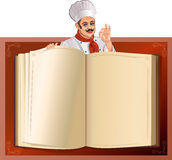 Cookbook. Chef and cookbook. professional chefs. Culinary chefs Royalty Free Stock Image