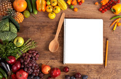 Cookbook. Copy space stock photography
